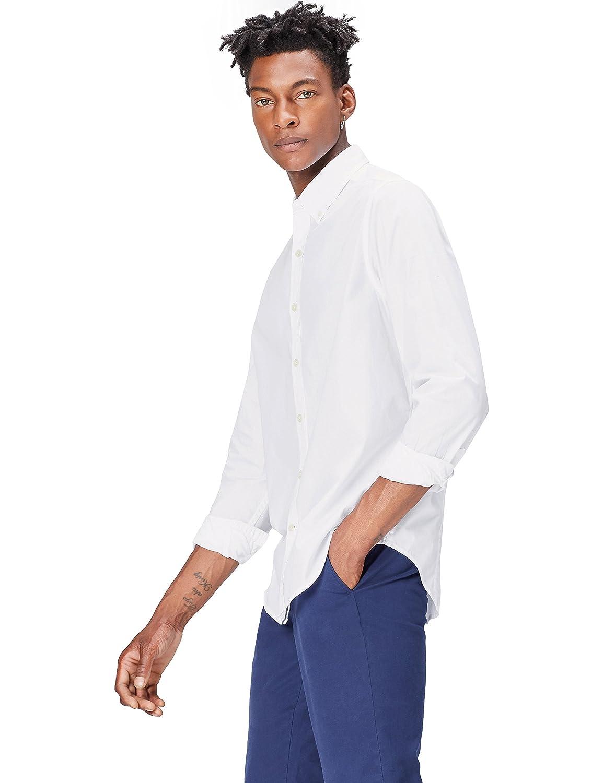 Marca Amazon - find. Camisa Casual de Algodón con Corte Estándar para Hombre