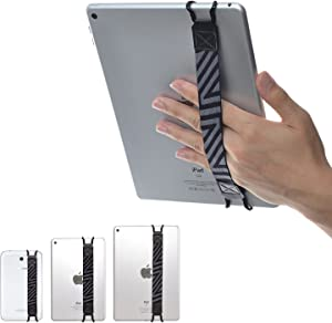 """TFY Security Hand-Strap for Tablet PC - iPad (New iPad/iPad Mini & Mini 2 & Mini 3 / iPad Air/iPad Air 2 / iPad Pro 9.7"""") - Samsung Tablet Pcs - Nexus 7 / Nexus 10 and More (Black)"""