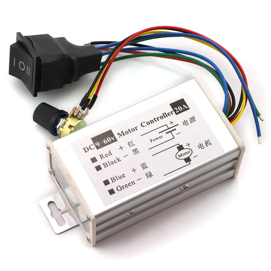 Waterproof High Power 20a Dc Motor Controller Dc 10v 12v 24v 36v 48v 60v Motor Drive Pwm Bldc Motor Controller Selling Well All Over The World Motor Controller Electrical Equipments & Supplies