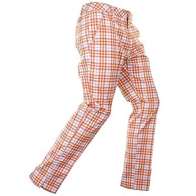a51d9dee27d0 Puma Plaid Tech Mens Golf Pants - Orange-Waist 38