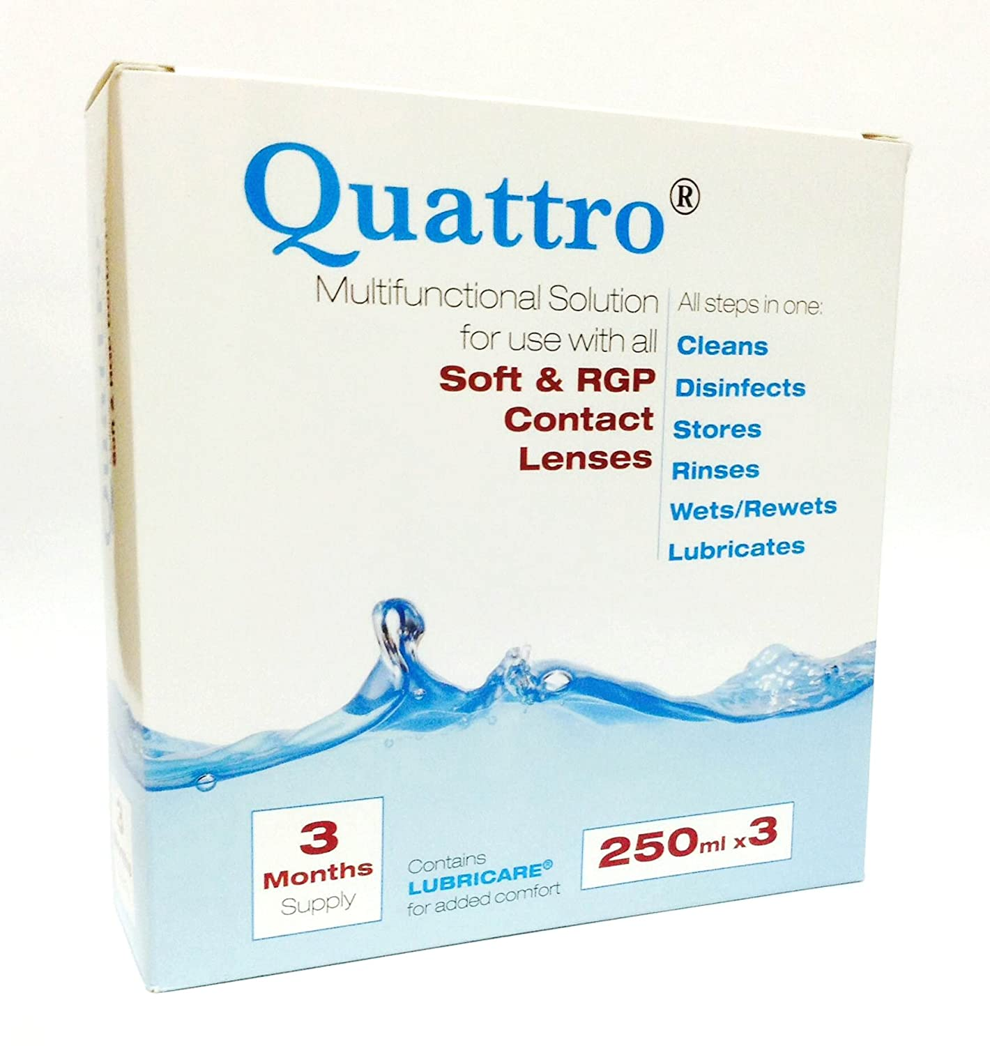 Quattro Multifunctional Contact lens solution 3 Month Pack Abatron