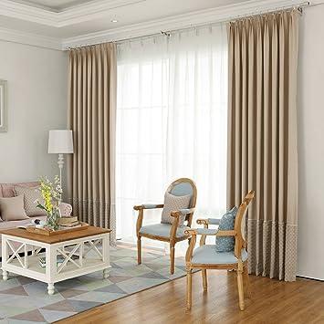 Dick Jacquard Schlafzimmer Fenster Vorhänge Für Wohnzimmer Verdunkelung  Blau Rustikal Vorhang Panels Isoliert Thermo Gestreiftes Luxus