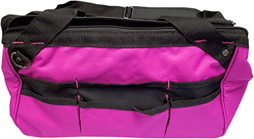 The Original Pink Box PB15TB 15-Inch Wide Mouth Soft Sided Multi-Purpose Bag with Zipper and Shoulder Strap, Pink