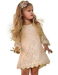 02bf8e0914a Amazon.com  Topmaker Backless A-line Lace Back Flower Girl Dress ...