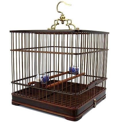 Long JiaYue Hecho a Mano Rosewood Rectangle Jaulas para Pájaros ...