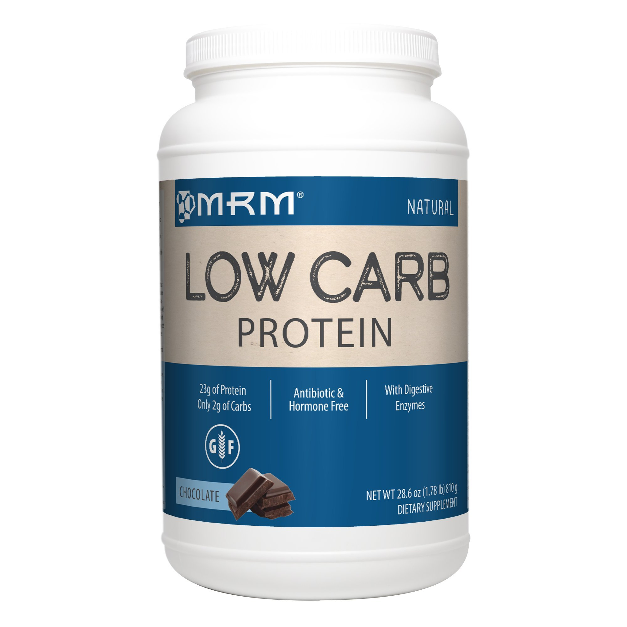 MRM - Low Carb Protein, Sustained Release Protein to Maximize Muscle Strength with Branched Chain Amino Acids, 23 Grams of Protein Per Serving (Creamy Chocolate, 1.78 lbs)