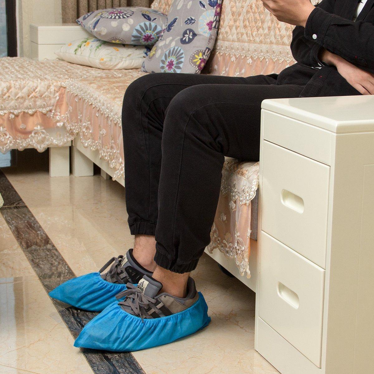 talla /única Cubrezapatos desechables protectores de zapatos reforzada antideslizante,duradera,resistente al agua,100 unidades,azul