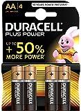 Duracell Plus Power Batterie Alcaline, Stilo AA, Confezione da 4