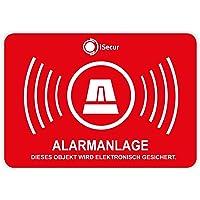 '10pegatinas Alarma, isecur®, alarmgesichert, 5x 3,5cm, art. Hin