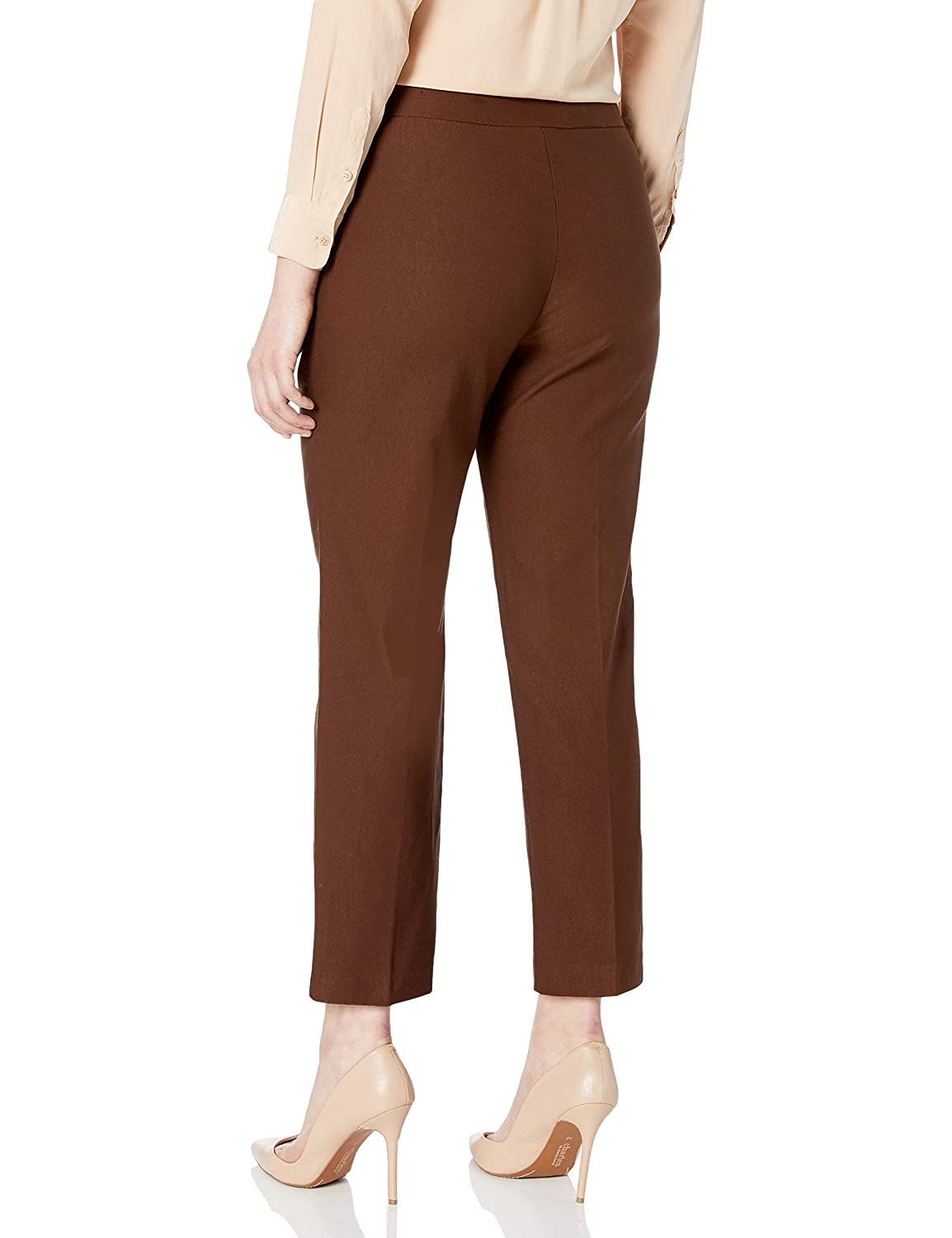 Alfred Dunner Womens Allure Slimming Plus Size Short Stretch Pants-Modern Fit