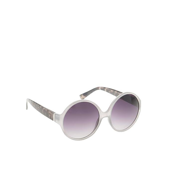 Parfois - Gafas Round - Mujeres - Tallas M - Gris: Amazon.es ...
