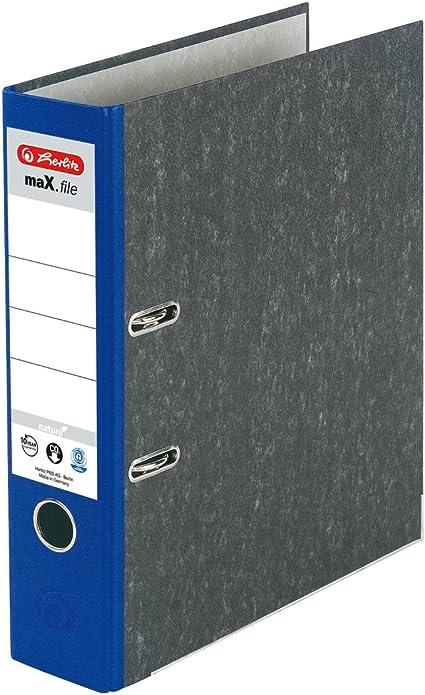 Herlitz 11012820 - Archivador A4 8 cm de grosor color azul con ...