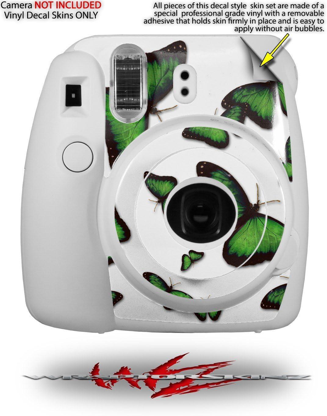 WraptorSkinz Skin Decal Wrap for Fujifilm Instax Mini 8 Camera Butterflies Green CAMERA NOT INCLUDED