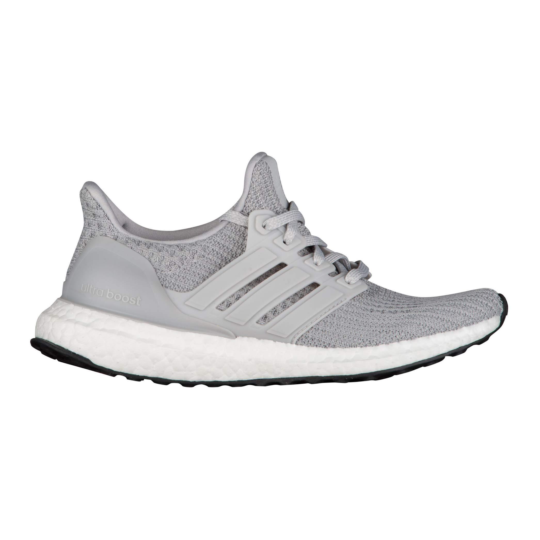 adidas Kids' Grade School Ultra Boost Running Shoes (3.5, Grey/Black)