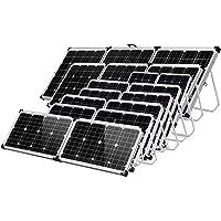 Gencity 120W 160W 180W 200W 250W 300W 360W Folding Solar Panel Kit 12V Mono Camping Caravan Boat Charging Power Battery
