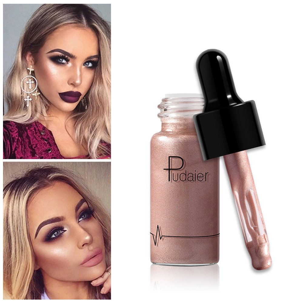Hot 7 Colors Bronzer Highlighter Liquid Face Concealer Shimmer Liquid Face Highlighter Liquid Labial Ministry Highlight Natural Matte Highlighter for Travel, Parties, Salons Make Up (F)