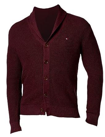 Tommy Hilfiger Men's Jeff Waffle-Knit Sweater Sweater, M, Dark Harvard