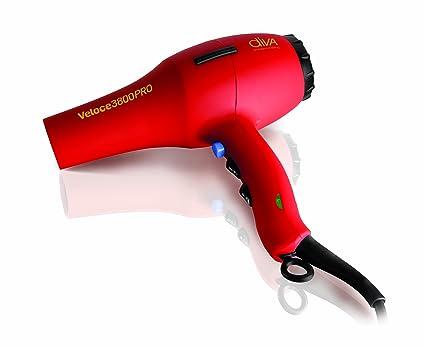 Diva Professional Styling Veloce 3800 rojo secador de pelo de goma