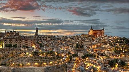 Rompecabezas Para Adultos Bricolaje Toledo España Landscap Cielo, Noche Rompecabezas De 1000 Piezas Para Regalo De Navidad De Amigo De Niño: Amazon.es: Hogar