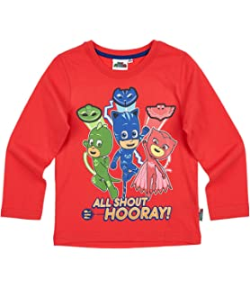 Pj Masks Childrens Its Time to Be a Hero Long Sleeve T Shirt 2017-2018
