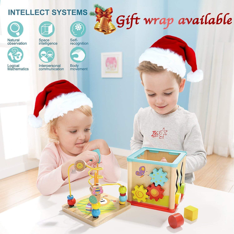 Educational Wooden Beads Toddler Infant Intelligence Toy Gift for Kids Xmas GA