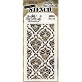 Stampers Anonymous Plastic Tim Holtz Layered Stencil 4.125-inch x 8.5-inch, Gothic