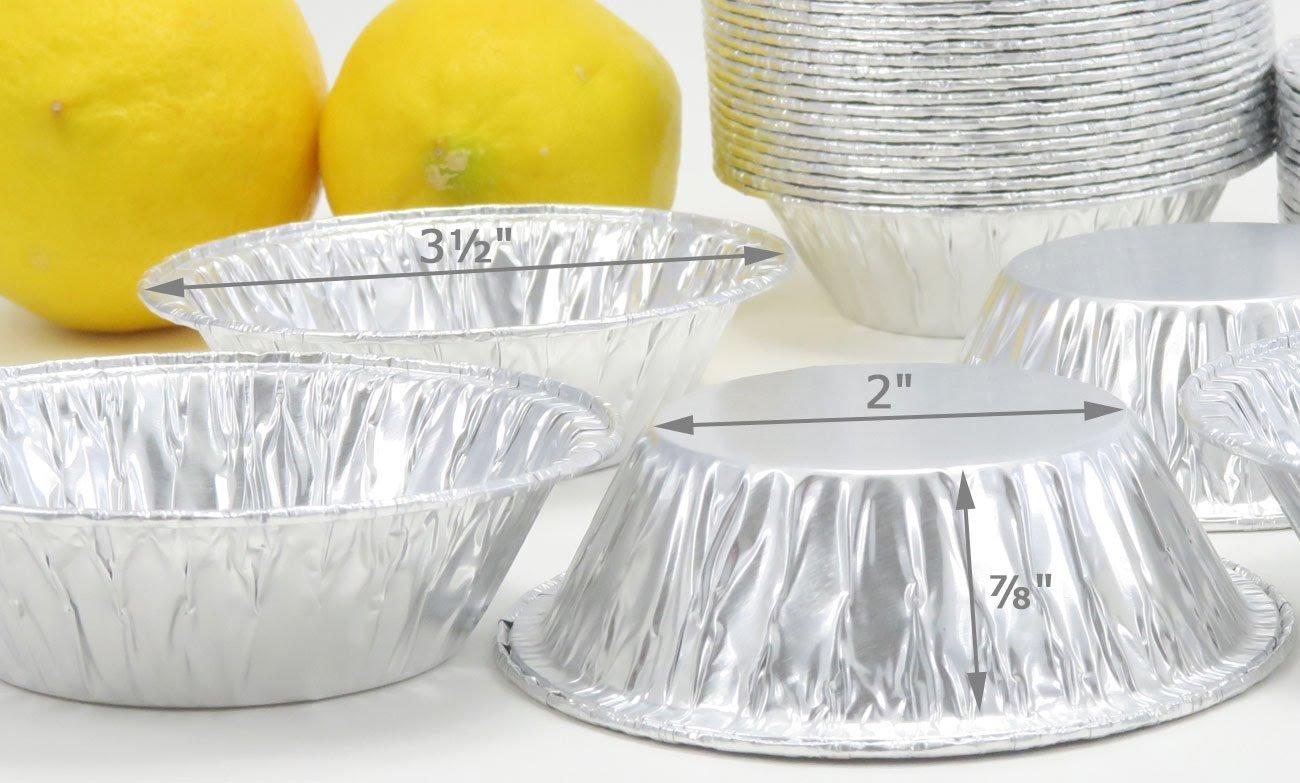KitchenDance 3'' Disposable Aluminum Tart Pans/Mini Pie Pans #301- Pack Of 100 by KitchenDance (Image #2)