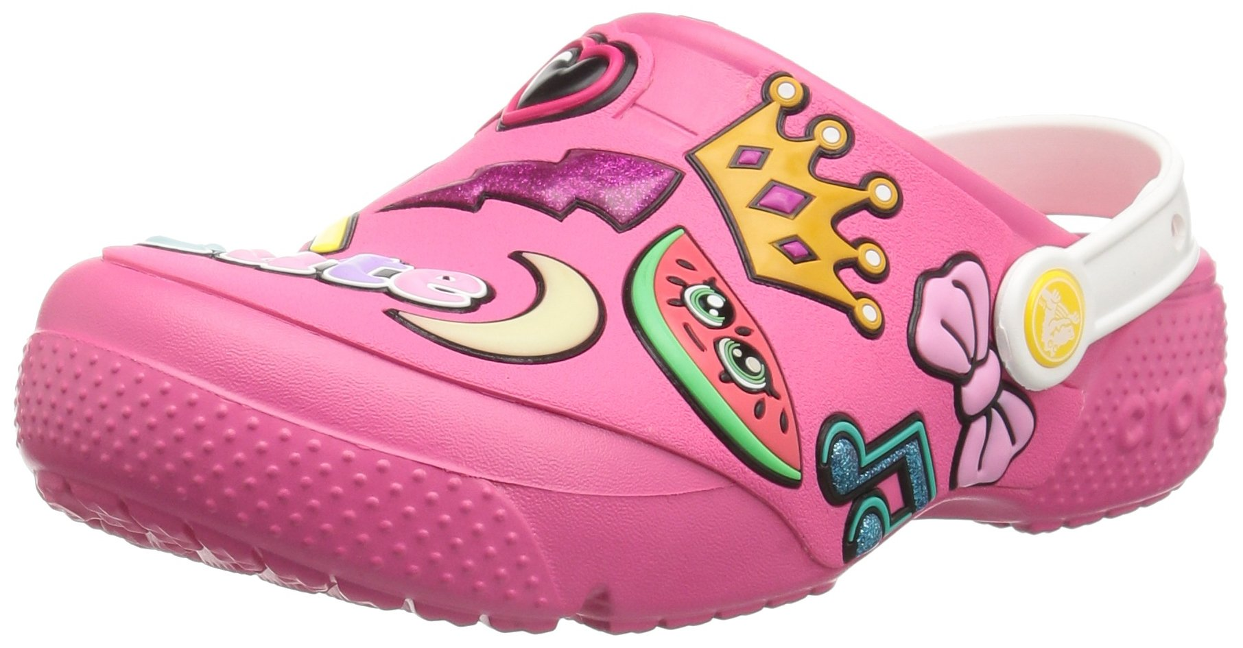 Crocs Unisex FunLab Playful Patches Clog, Paradise Pink, 1 M US Little Kid