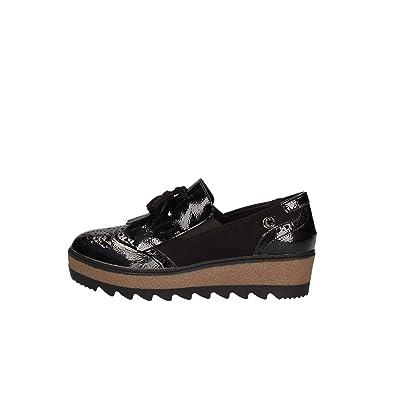 Carmela 65814 Mocassins Femme Noir - Chaussures Mocassins Femme