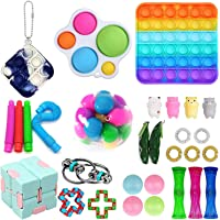 30Pcs Fidget Toy Set Fidget Pack Cheap Sensory Relieve Stress and Anxiety Toys for Kids Adults, Fidget Pack with DNA…