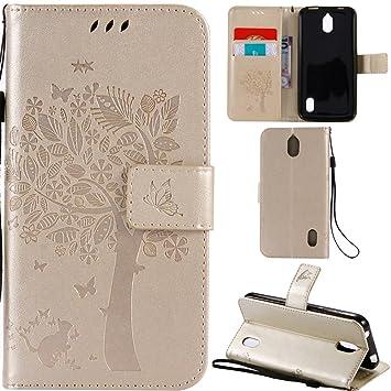 Ooboom® Funda para Huawei Y625 Flip Wallet Case Cover Carcasa Piel PU Billetera Soporte con Ranuras Tarjetas Cierre Magnético - Oro