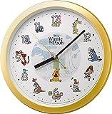 Disney (ディズニー) 掛け時計 キャラクター アナログ くまの プーさん Pooh M715 黄色 リズム時計 4KG715MC33