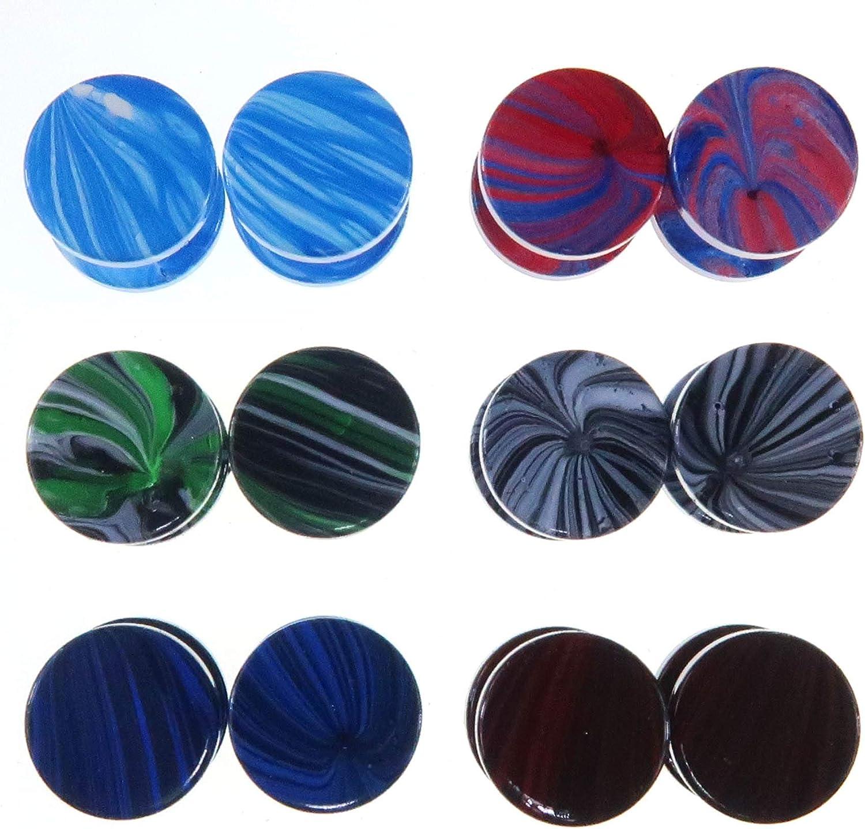 LilMents - Juego de 6 pares de pendientes circulares estilo ...