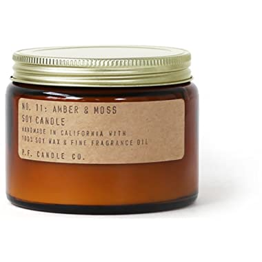 P.F. Candle Co.. - No. 11: Amber & Moss Soy Candle (Double Wick (14 oz))