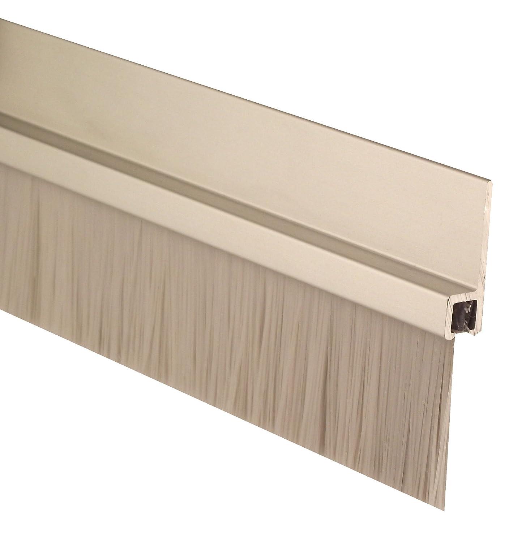 Aluminum Retainer Aluminum Pemko 085582 18100CNB48 Brush Seal 1 Width Clear Aluminum with Gray Brush Insert 48 Length