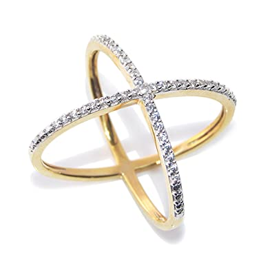 Buy Zeneme Premium American Diamond Gold Plated Ring for Women