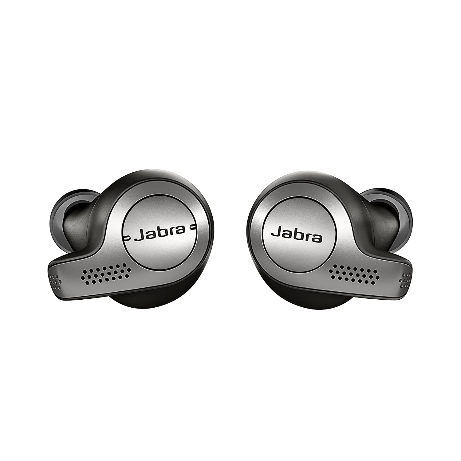 Jabra Elite 65t Alexa Enabled True Wireless Earbuds & Charging Case - Titanium Black (Certified Refurbished)