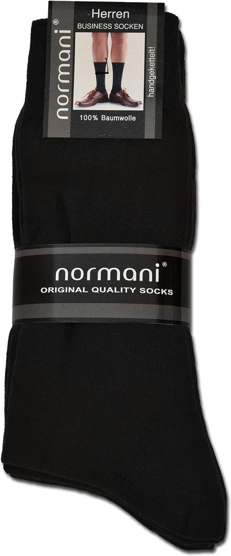 normani 20 Paar Herren Socken aus Reiner Baumwolle - klimaregulierend und atmungsaktiv
