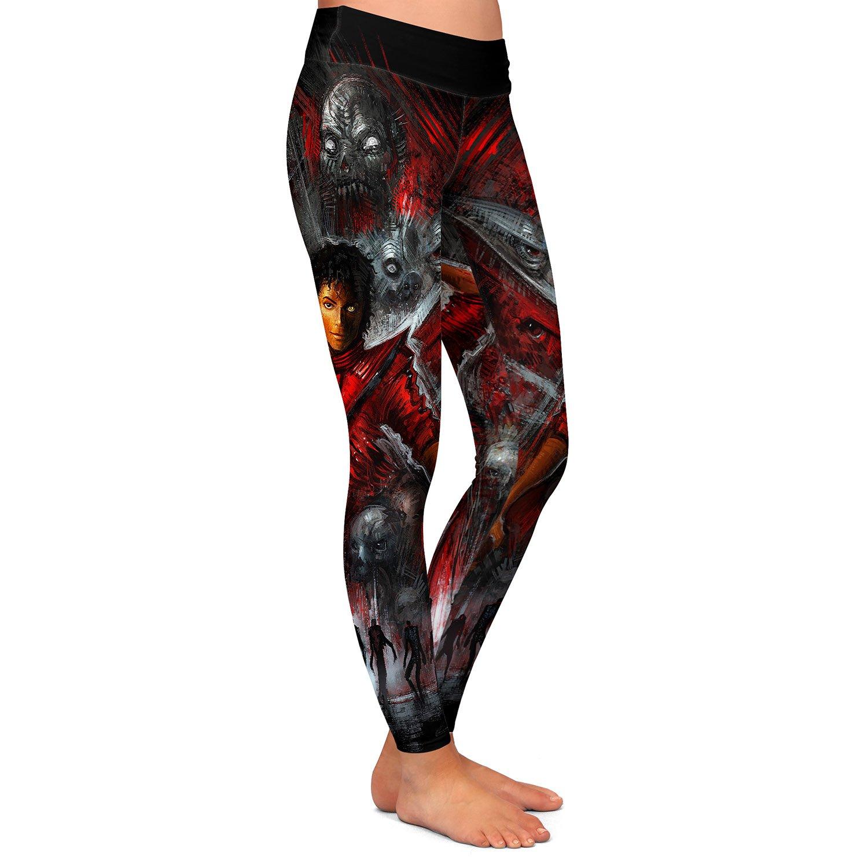 Athletic Yoga Leggings from DiaNoche Designs Alex Ruiz Thriller Michael Jackson