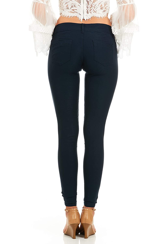 V.I.P JEANS Womens soft stretchy white black red navy khaki pants