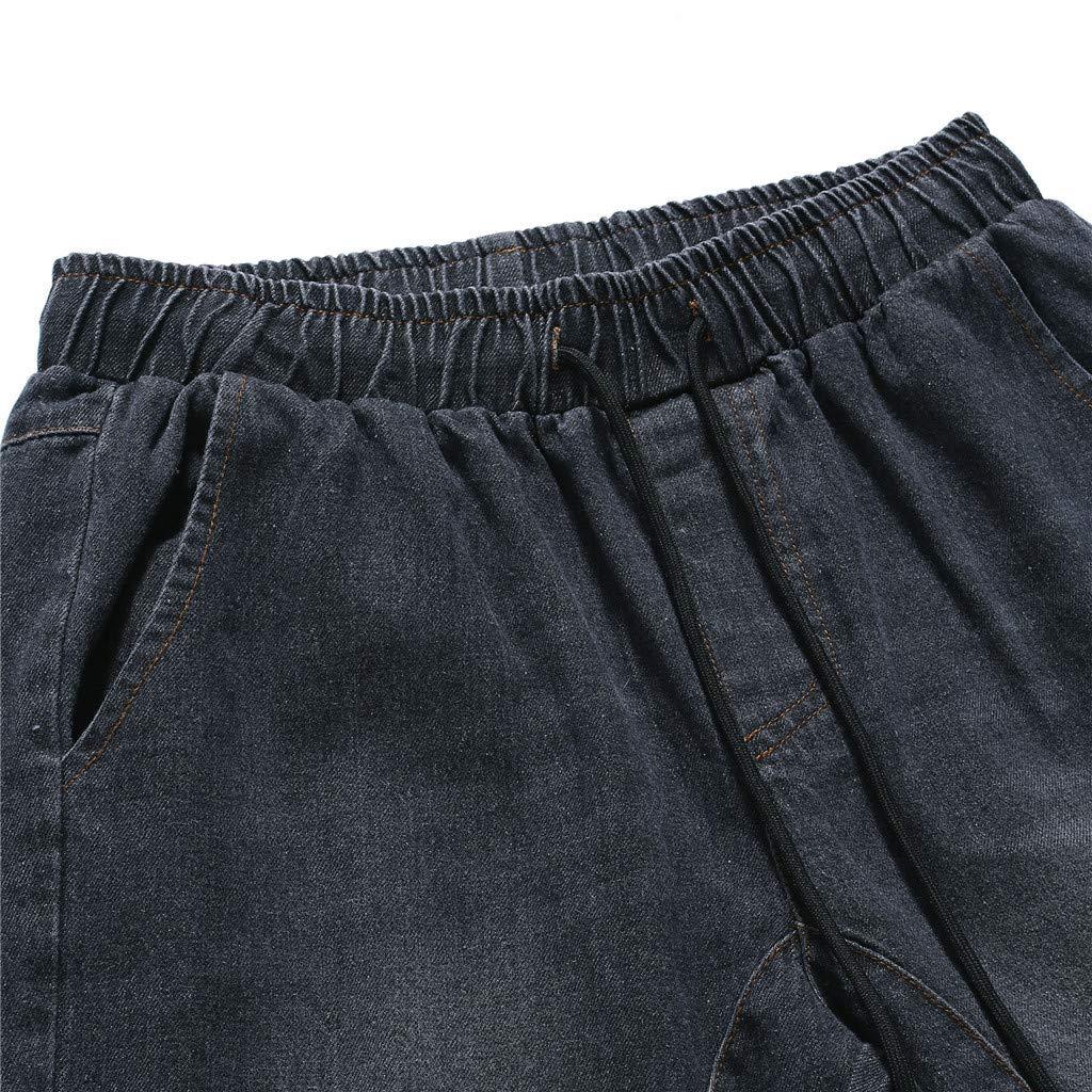 Sunyastor Jogger Cargo Men's Casual Trouser Outdoor Working Sweatpants Drawstring Elasticated Waist Outdoor Hiking Pants Black by Sunyastor men pants (Image #6)