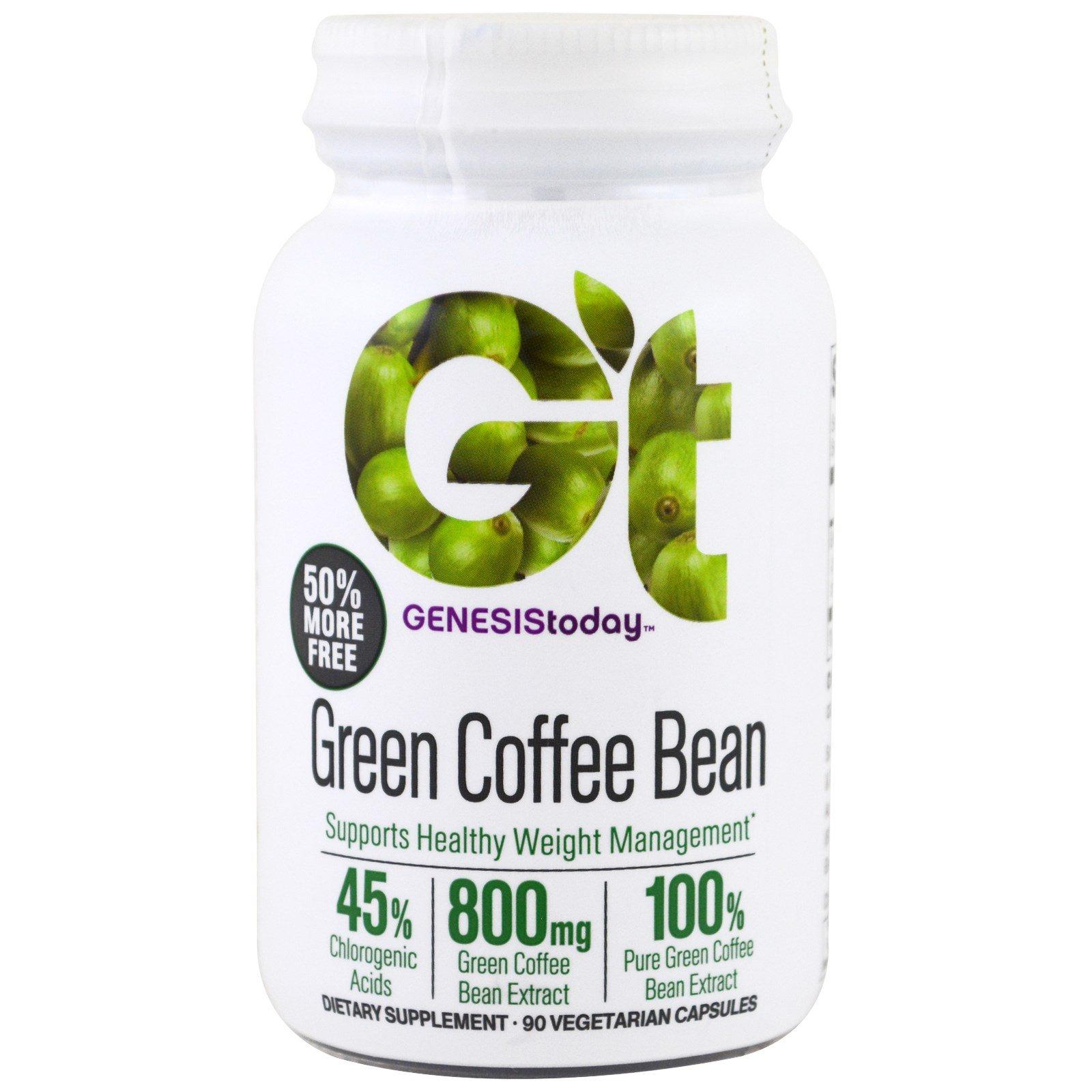 Genesis Today, The Original Green Coffee Bean, 60 Veggie Caps - 3PC