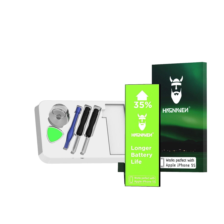 Batería Hagnaven® Li-polímero para Apple iPhone 5s | Batería Premium con Herramientas | Potente Batería de sustitución | 1660 mAh | Celdas MÁXIMA ...