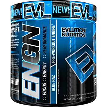 Evlution Nutrition ENGN | Suplemento En Polvo Pre Entreno Con Creatina Vitaminas Cafeína | Contiene 30 Dosificaciones | Sabor Frambuesa Azul: Amazon.es: ...