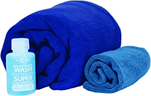 Sea To Summit Tek Towel Wash Kit - Cobalt/Pacific Medium