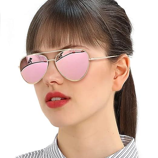 a36b59cf4c5 ... Gold Flat Mirrored Source · Amazon com SODQW Classic Womens Sunglasses  Mirrored Stylish