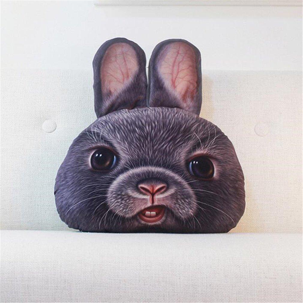 NUO-Z Short Plush Cushion - Bedside Nap Sleep Lumbar Pillow 3D Cushion -Creative Personality Gift Cartoon Plush Toys - Christmas Gift, Family, Hotel, Decoration, Chair, Bed,Car,Gray