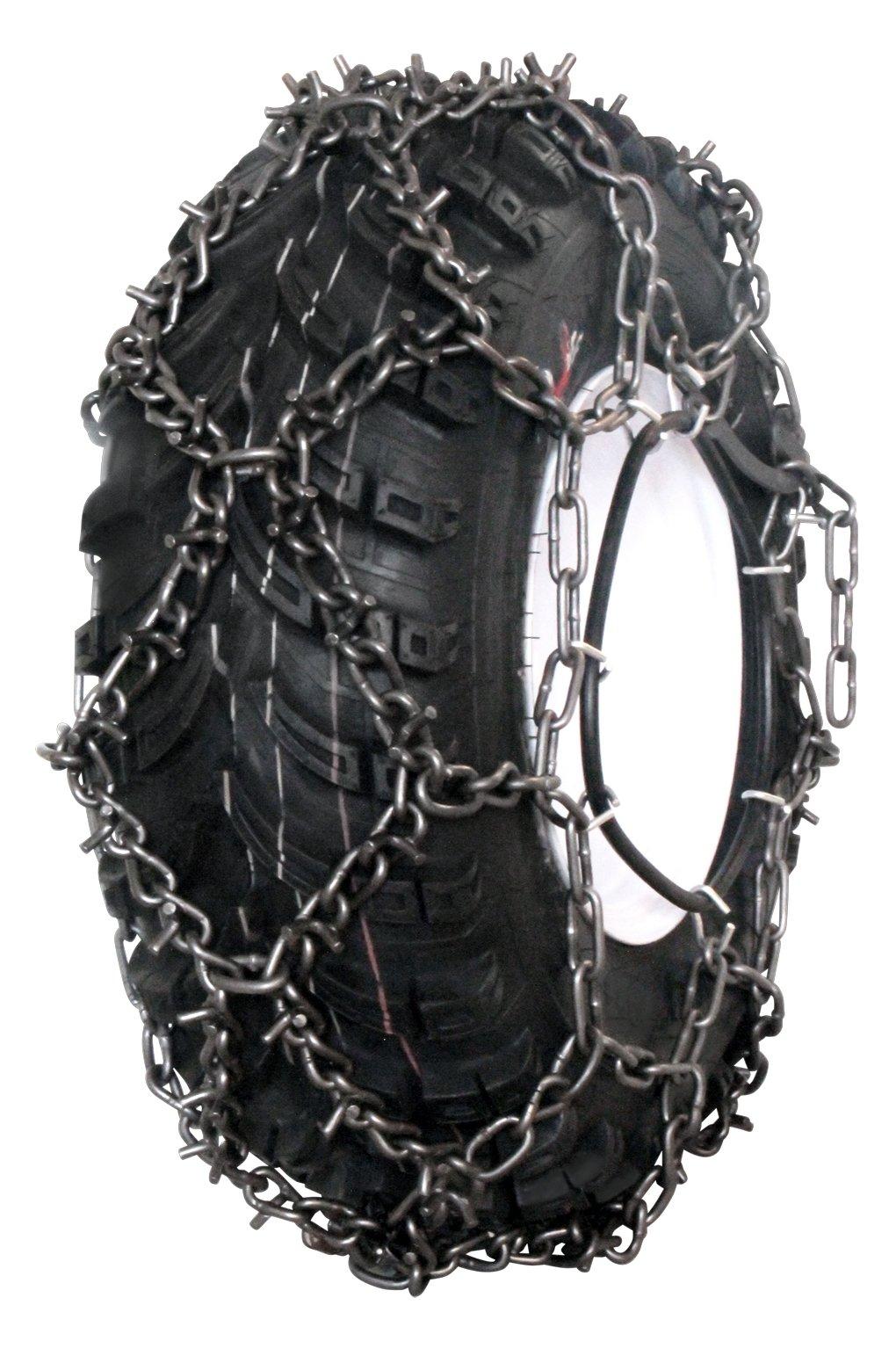 Grizzlar GTN-704 ATV Diamond Studded Tire Chains 205/80-12 21x10-8 22x10-8 22x10-10 22x11-10 22x11-12 23x8-10 23x8-12 23x8.50-12 23x10-10 23x10-12 23x10.50-12 24x8-12 24x9-12 25x8-12 26x8-12 26x8-15 by Grizzlar (Image #1)