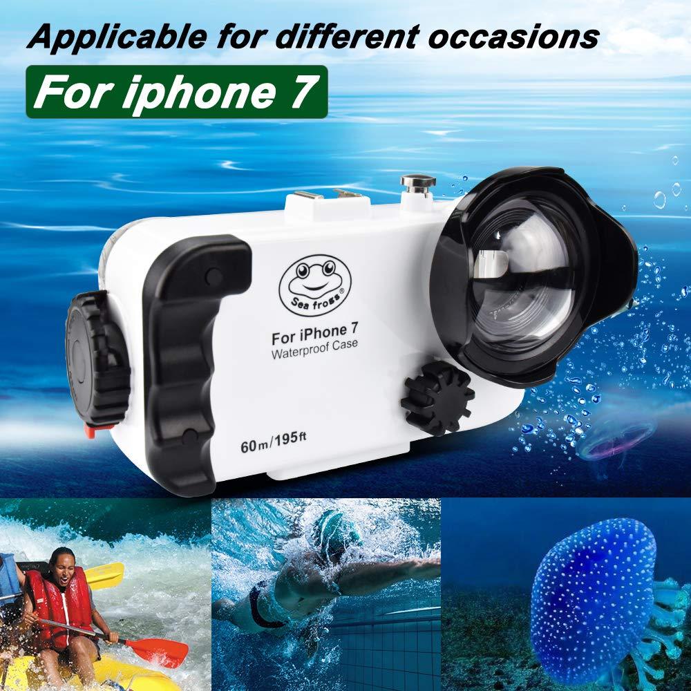 Étui étanche Blanc IPhone 6 6s, 130 Pieds / 40m sous-Marin étanche Scellé étanche à la Neige Étanche à la saleté IPX8 certifié étanche Natation plongée sous-Marine Snorkeli