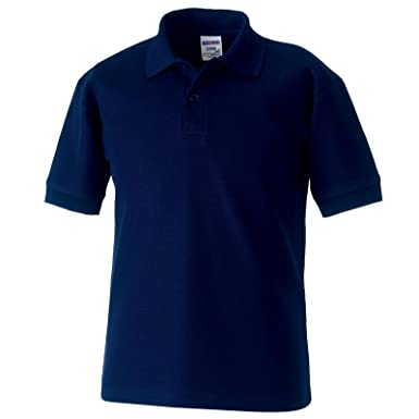 Jerzees Kids Russell Schoolgear Polo clásico de poliéster/algodón ...
